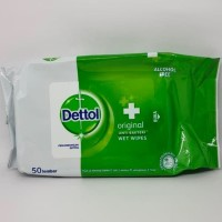 Dettol Wet Wipes Anti Bakteri (50 Lembar) Original BPOM 100%