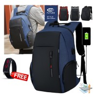 tas ransel laptop 15.6 inch anti air with USB charging