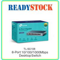 TPLINK TL-SG108 Switch 8 Port Gigabit Metal Housing
