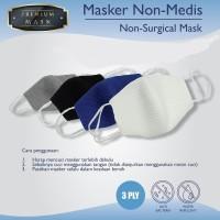 Masker Olahraga / Masker Kain 3D / Masker Anti Pengap
