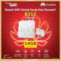 Home Router Wifi 4G LTE Huawei B312 Unlock Free Telkomsel 14 GB