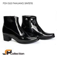 Sepatu PDH Wanita Kerja Wedges Polwan PNS Boots Kilap Nyaman Dipakai