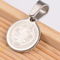 medali rosario benediktus titanium