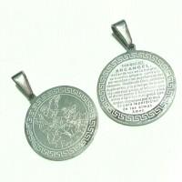 medali rosario santo Michael titanium