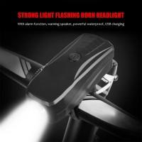 lampu sepeda multifungsi 2in1alarm klakson chargeable-bel sepeda lampu