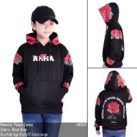 jaket sweater anak ahha mawar - M