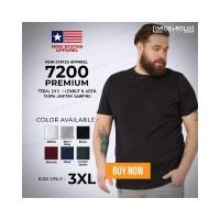 GROSIR Kaos Polos NSA 7200 Premium Cotton T shirt Original Murah 3XL