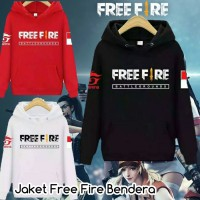 sweater jaket anak free fire bendera