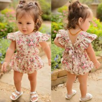 Newborn Infant Kids Baby Girls Floral Romper Jumpsuit Outfit Playsuit