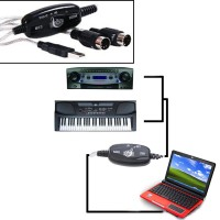 MIDI USB Cable Converter PC to Music Keyboard Mych Glo