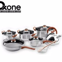 ECO COOKWARE SET / PANCI SET OXONE STAINLESS STEEL OX-933 / OX933 / OX
