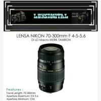 LENSA NIKON 70-300mm f4-5-5.6 DI LD Macro MERK TAMRON