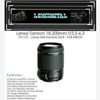 LENSA TAMRON 18-200MM F/3.5-6.3 Di ll VC -lensa tele kamera for Nikon