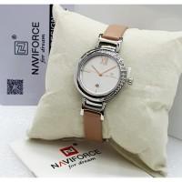 jam tangan Naviforce 5007 wanita original merah hitam cream biru