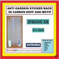 IPHONE XR 6.1 INCH ANTI GORES GARSKIN BACK AURORA SKIN KARBON 910489
