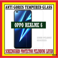 OPPO REALME 6 6.5 INCH ANTI GORES TEMPERED GLASS KACA BENING 910521