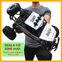 Mainan RC Mobil Rock Crawler 1:12 Off Road 2.4GHz 4WD