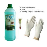 Paket ATTAR Power KERAMIK WC / Toilet 1 Liter + Sarung Tangan Pendek