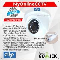 Paket IP Camera CCTV Indoor EDGE 2MP Onvif Setara Hikvision Avtech