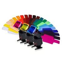 flash 20 pcs set color gel filter for godox - Photography Color Filter