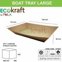 BOAT TRAY LARGE - PAPER BOAT KERTAS COKLAT - 50 PCS