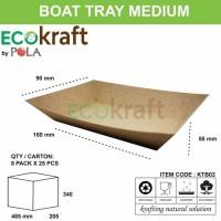 BOAT TRAY MEDIUM - PAPER BOAT KERTAS COKLAT - 50 PCS