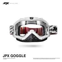 JPX Cross Goggle White - Clear Gloss