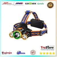 Senter Headlamp Light Cree XM-L T6 + 2 LED