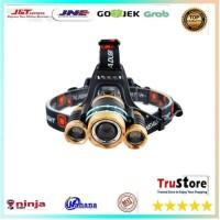 Senter Headlamp Cree XM-L 3T6 15000 Lumens - Black