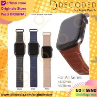 Decoded Traction Apple Watch Leather Strap Tali Jam Kulit - 40 38mm, Hitam