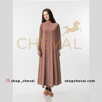 CHEVAL KELLY Maxi Dress - Gamis kerah tinggi - Latte, XL