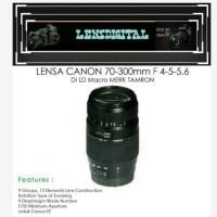 Lensa Canon 70-300mm f4-5-5.6 DI LD Macro Merk Tamron