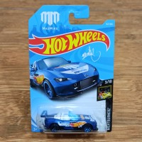Diecast Hot Wheels Mazda Miata MX5 Blue Madmike Mad Mike Drift Car