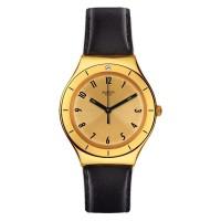 Jam Tangan Unisex Swatch Irony Coraggiosa Gold Dial YGG105
