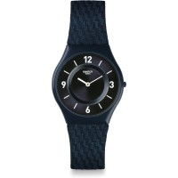 Jam Tangan Unisex Swatch Skin Blaumann Black Dial SFN123