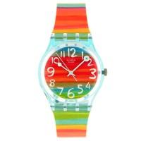 Jam Tangan Wanita Swatch Color The Sky Rainbow Rubber Strap GS124