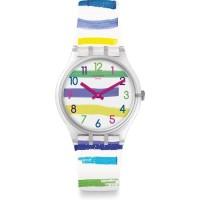 Jam Tangan Wanita Swatch Colorland Rainbow Dial Multicolor GE254