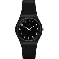 Jam Tangan Wanita Swatch Blackway Black Dial Rubber Strap GB301