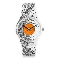 Jam Tangan Pria Swatch Orange Pusher Rubber Strap SUOW167