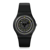 Jam Tangan Unisex Swatch Piu Nero Black Rubber Strap SUOB157