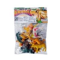 Mainan Set Wild Animal 12 Pcs/Mainan Hewan Kecil/Miniatur Hewan 12pcs