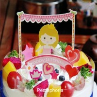 Cake Topper / Topper Kue Happy Birthday Princess Crown