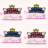 Lilin Ulang Tahun / Happy Birthday Candle Crown Wing