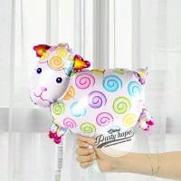 Balon Foil Domba / Animal Sheep / Balon Foil Binatang Domba Mini 40cm