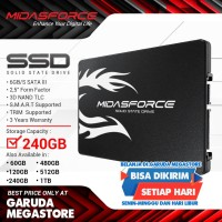 SSD-Solid State Drive Midasforce 240GB SUPER LIGHTNING SATA III-6GB/S