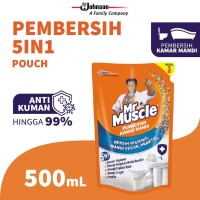 Mr. Muscle Pembersih Kamar Mandi 5in1 Pouch 500ml