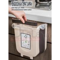 Rak gantung tempat sampah plastik portable karet elastis OLL-876