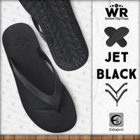 Limited Edition Sandal Jepit Pria Flip Flop CAMOU - WR Jet Black - Jet Black, 39