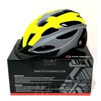 Helm Sepeda Dewasa Polygon Cliff - Matt Grey-Green - M