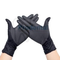Gloves Sarung Tangan Medis Nitrile Non Powder Sepasang (Hitam)